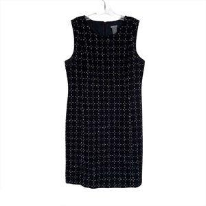 Ann Taylor Black Wool Blend Dress Tweed